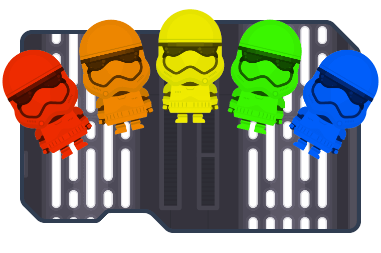 Rainbow Stormtroopers