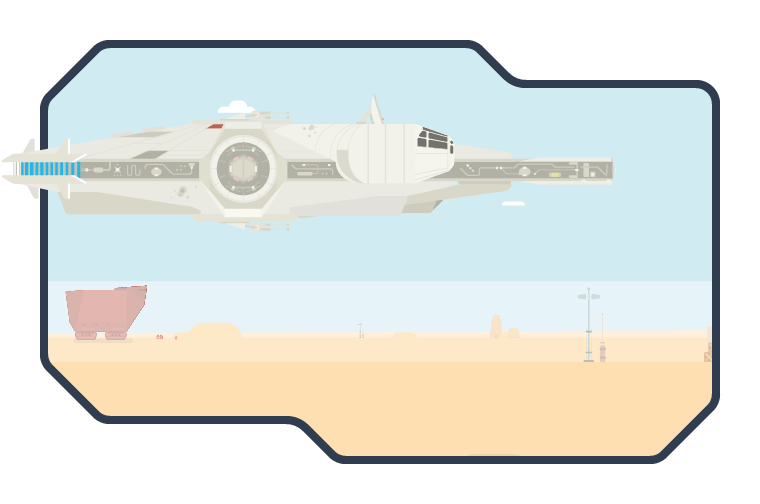 Millennium Falcon on Tatooine