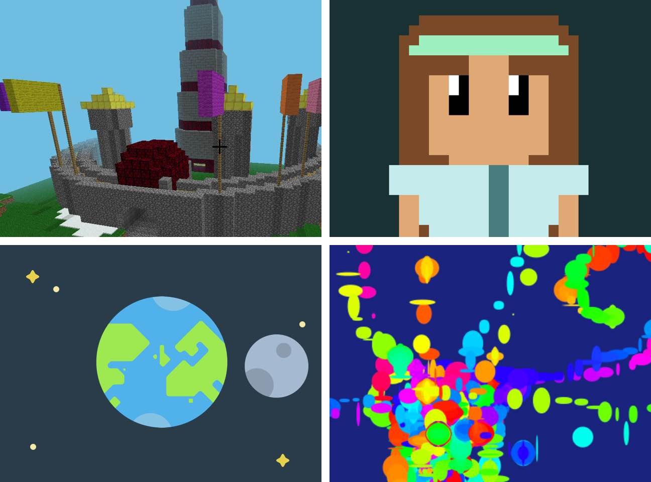 Get creative with art, music, and Minecraft